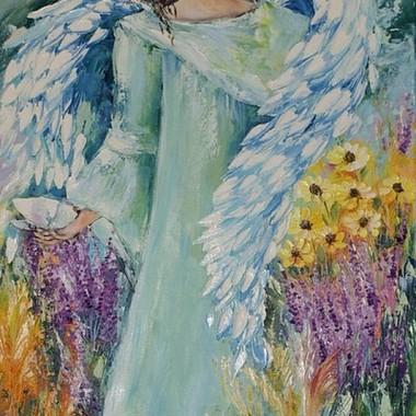 Witam z moimi nowymi aniołami Obrazy olejne malowane na płótnie mojego autorstwa http://malarstwoeda.blogspot.com/