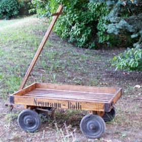 neumann rolli stary drewniany wózek transportowy