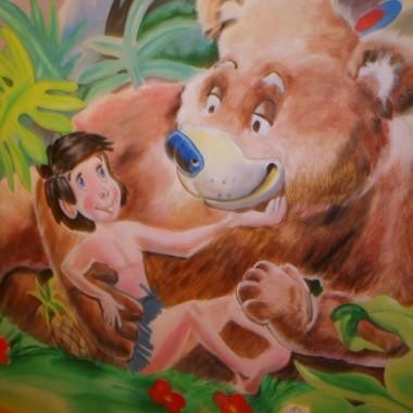 PRZEPIĘKNE MALARSTWO ŚCIENNE Księga dżungli, BAMBI