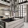 Kuchnia, Elegancka nowoczesna kuchnia | POWER OF DESIGN - Kuchnia z wygodną wyspą, dekoracyjnym okapem i wyszukanym oświetleniem.