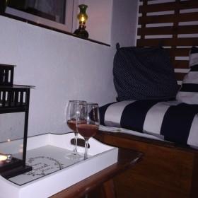 Balkon wieczorową porą...