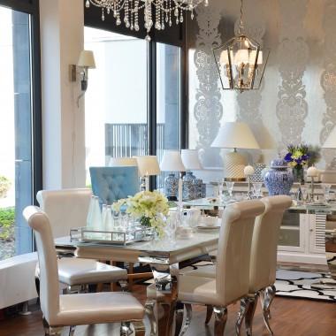Stół do jadalni stal szklany nowoczesny czarny GLAMOUR