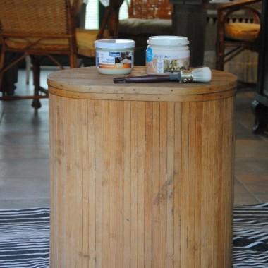 i najnowsze malowanie ...kufer na brudną bieliznę za 3 dychy :)