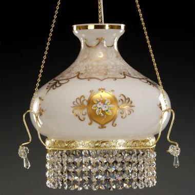 Żyrandol kryształowy z kloszem