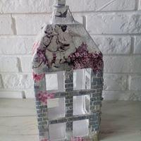 Dekoratorzy, 100 % handmade - Lampion 100% z kartonu ozdobiony metodą decoupage