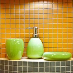 Zestaw łazienkowy Arte zielony, SklepGalicja.pl