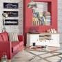 Pozostałe, Białe meble - luksus i klasyka - Praktyczna szafka pod telewizor i sprzęt RTV, wykonana w całości z drewna tekowego, malowana na biało, blat naturalny, postarzany.http://www.dekoria.pl/offer/product/12957/Szafka-RTV-Brighton-150cm