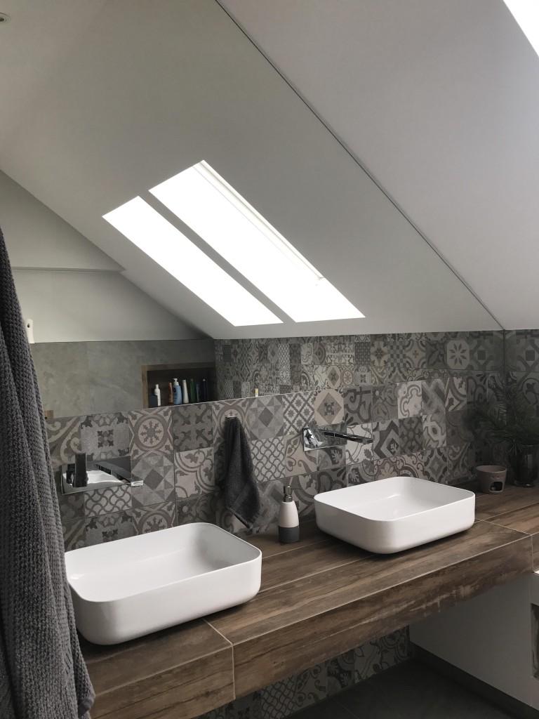 Łazienka, Łazienka na piętrze