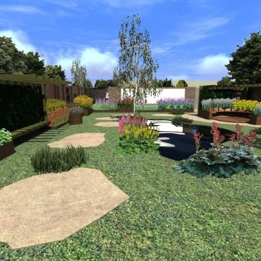 Centralna część założenia- ogród wiejski.