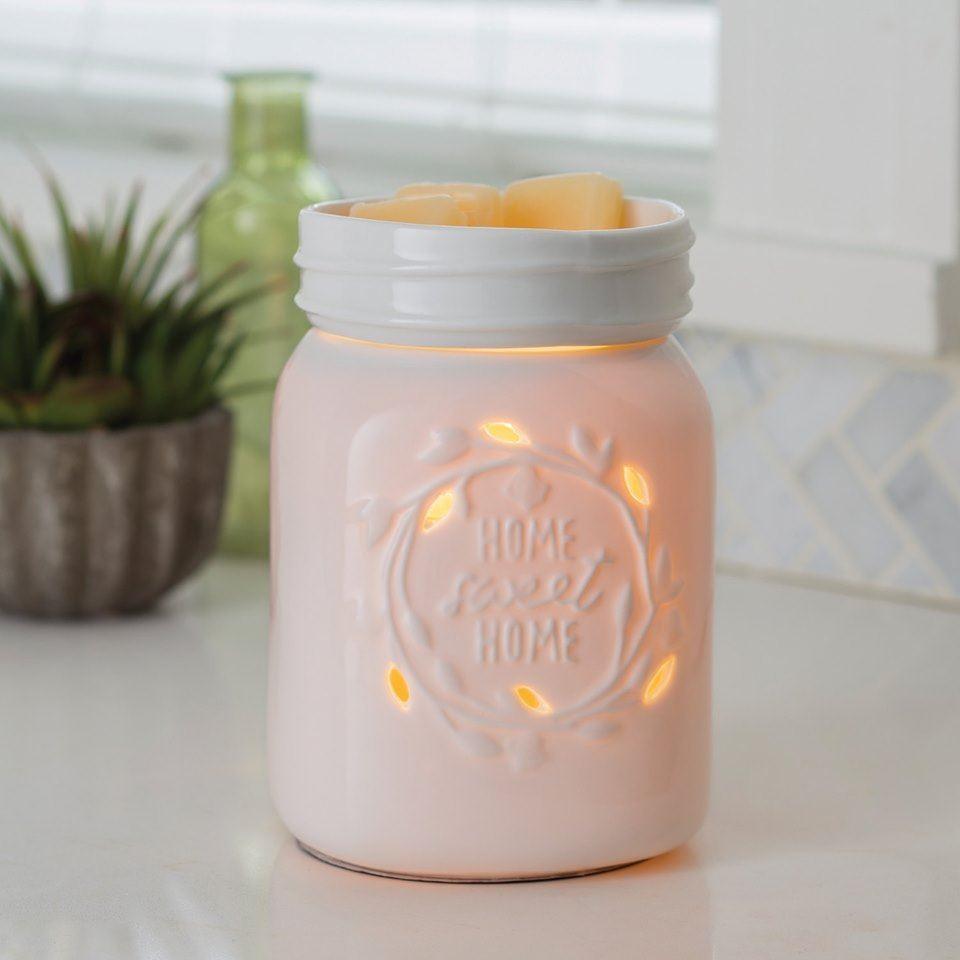Dekoracje, Kominki elektryczne Candle Warmers - Kominek zapachowy Mason Jar