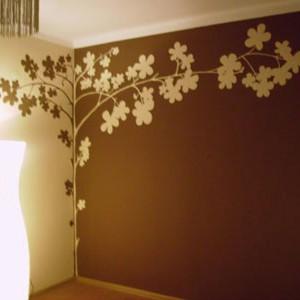 artystyczne malowanie ścian - drzewko