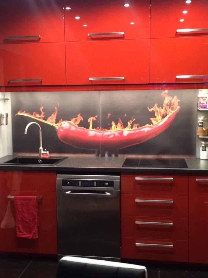 Kuchnia, DOM - Meble +tapeta