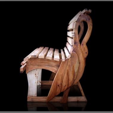 Ławka drewniana Łabędź