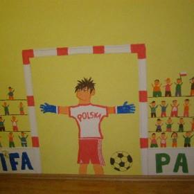 ściana w pokoju chłopców
