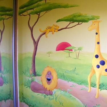 Artystyczne malowanie ścian - safari