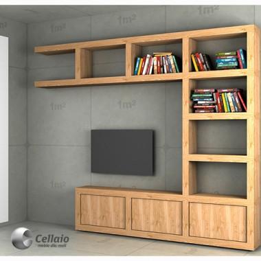 Ścianka telewizyjna Cellaio - na wymiar i wg indywidualnego projektu