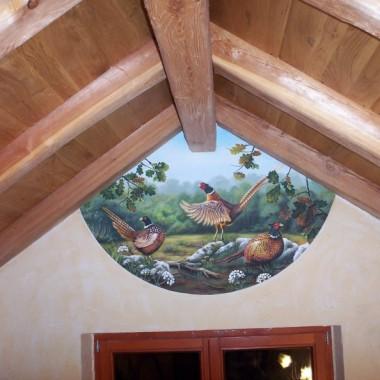 malarstwo ścienne i dekoracyjne,fresk-pokój myśliwski