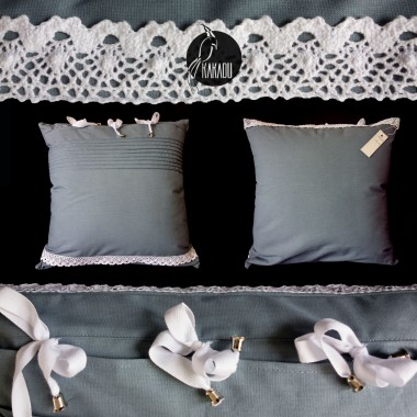 Niebieska poduszka