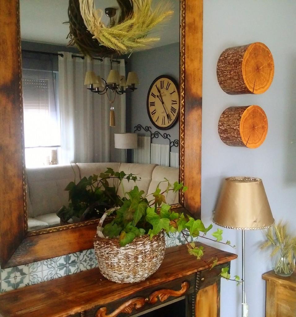 Dekoracje, Kadr drewniany - Uwielbiam drewno
