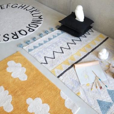 Kolekcja dywanów do prania w pralce Lorena Canals w pięknych pastelowych odcieniach http://bogatewnetrza.pl/pl/c/Dywany-dzieciece/82