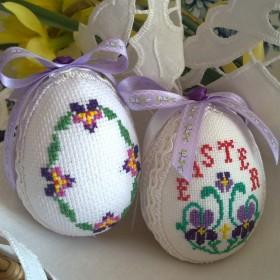 Pisanki haftowanki i wiosna