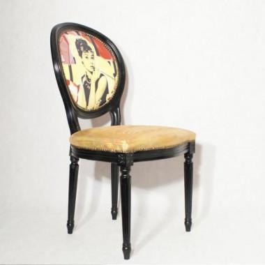 Bottega, krzesła fotele ludwikowskie w stylu awangardowym