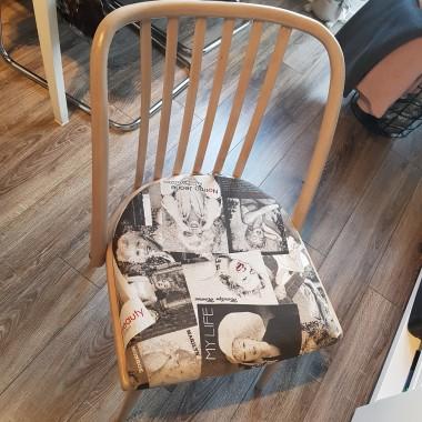 Ktoś wystawił stare krzesło na śmietnik :( Zabrałam go do domu i dałam mu drugie życie :)