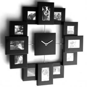 Zegar ścienny z ramkami na 12 zdjęć