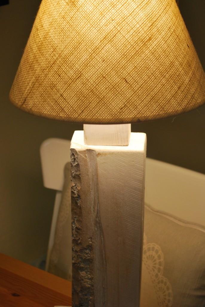 """Zrób to sam, galeria """"handmejdy"""" powiększona :) - lampka zrobiona własnoręcznie, tylko abażur dokupiony"""