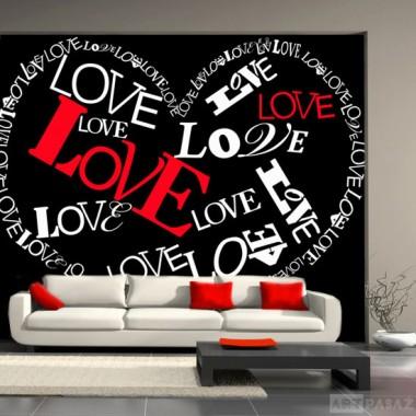 serce - obraz zrobiony z liter