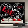 Pozostałe, dekoracje z literami, cytatami - serce - obraz zrobiony z liter