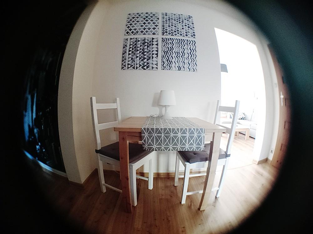 Domy i mieszkania, Moje mieszkanie - zmiany, rybie oko, słońce !