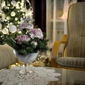 Święta w bieli z odrobiną różu.