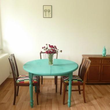 stół przemalowany