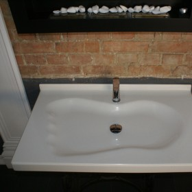 Unikatowy blat umywalkowy z kompozytu