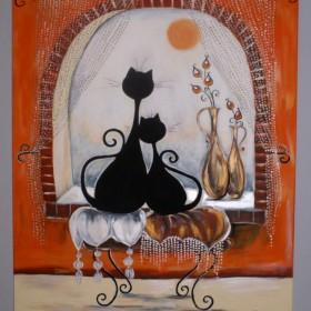 Obrazy '' Fantazyjne czarne koty ''