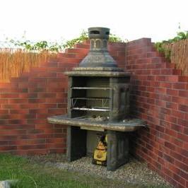 grill kominek fontanna