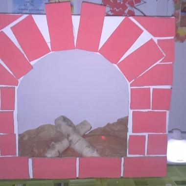 kominek z kartonu :)