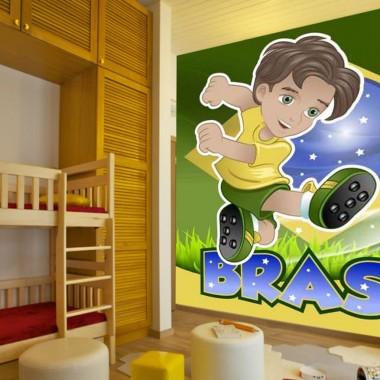 Fototapeta dla dzieci piłkarz Brazylia