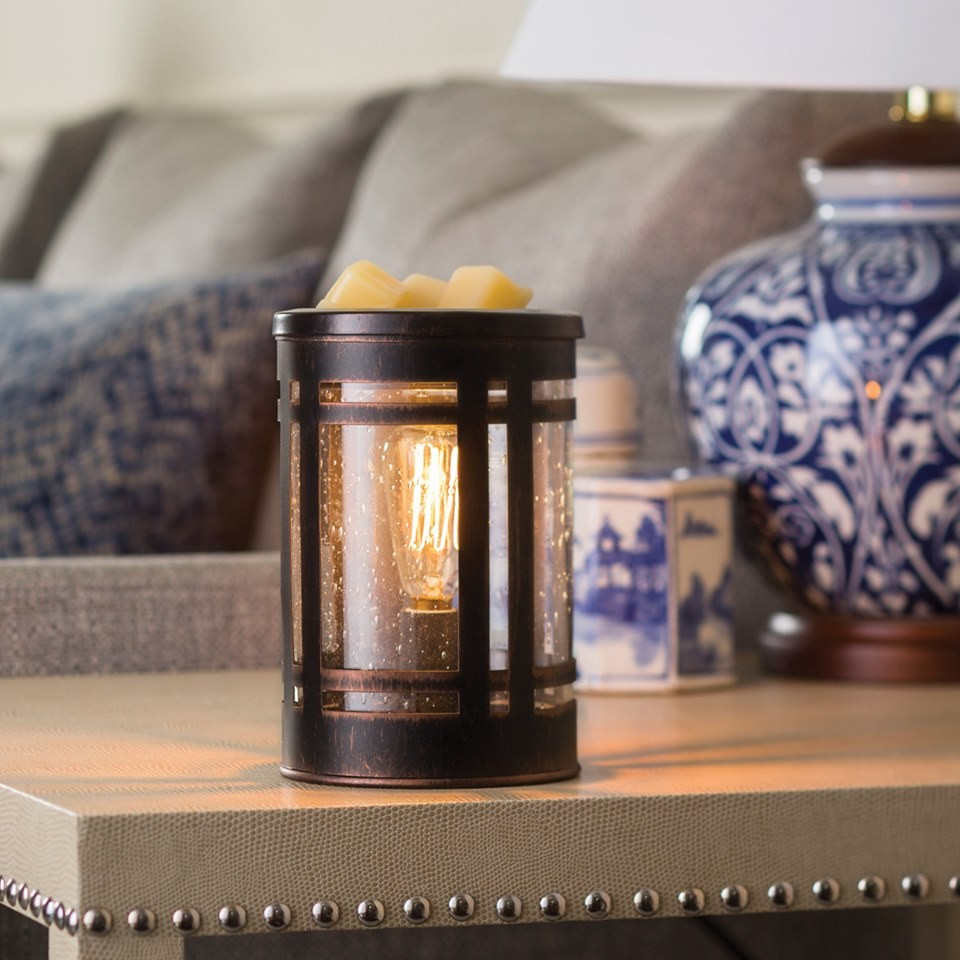 Dekoracje, Kominki elektryczne Candle Warmers - Kominek zapachowy Mission z żarówką Edisona