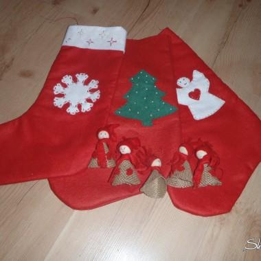 Moje skarpety Mikołajowe :-)))) i ludziki na choinkę kupione za 1zł