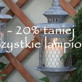 Lampiony do ogrodu - 20% taniej