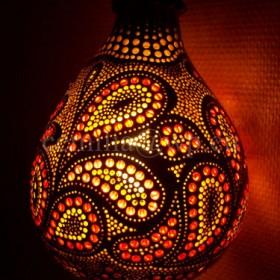 Lampa z tykwy, tykwa.