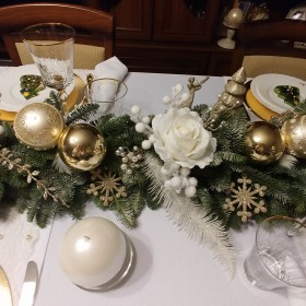 Biel i złoto na Boże Narodzenie:)