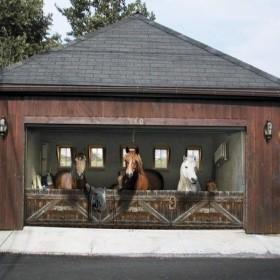 Naklejki 3D na garaż...