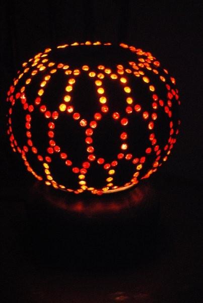 Oświetlenie, lampki z tykwy
