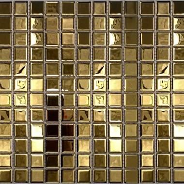 Złote plytki, zlote mozaiki, złota łazienka