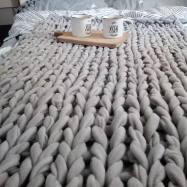40 zł za koc CHUNKY KNIT! Najmodniejszy koc DIY IKEA HACK