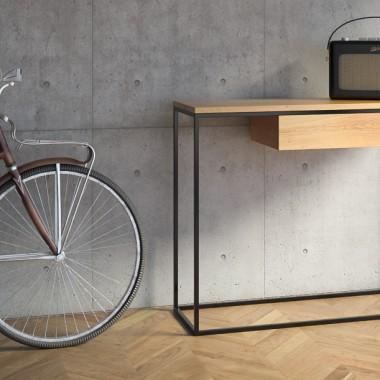 minimalistyczna konsola w stylu skandynawskim SKINNY OAK+