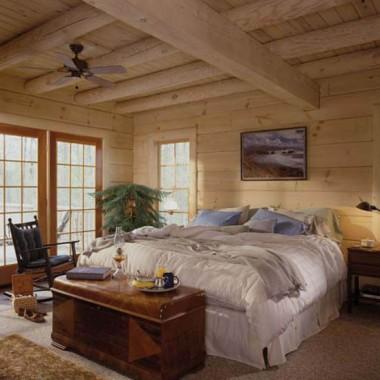 Wykończenie domu z bala - sypialnia
